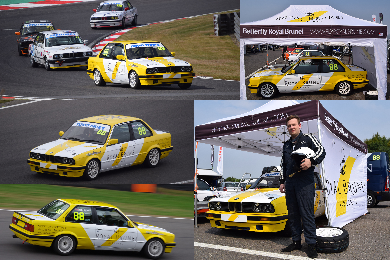 Claridon-Royal Brunei Airlines Race Car- Brands Hatch